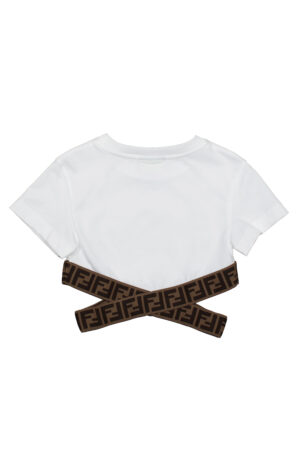 FENDI JFI227 t-shirt crop banda_bianco_2