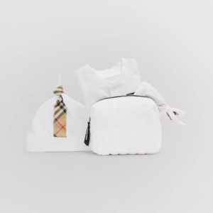 Burberry baby set core check bianco off white_2