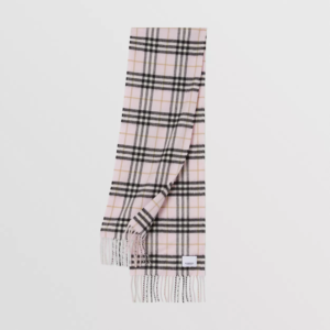 Burberry pink chack scarf cash cachemere