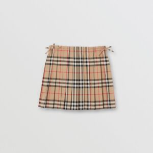 Burberry skirt gonna Pearly check plisse pleat