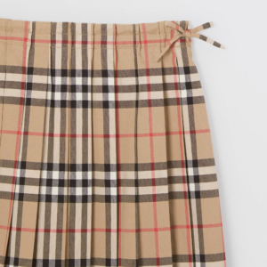 Burberry skirt gonna Pearly check plisse pleat_4