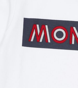 Moncler t-shirt long sleeve white central logo_2
