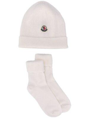 Moncler compl. tricot berretto+calzini F29519N70000 bianco_1
