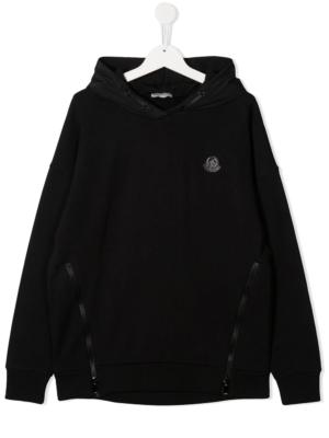 Moncler felpa con cappuccio F29548G73010 sweater hooded nero_1