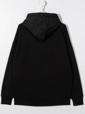 Moncler felpa con cappuccio F29548G73010 sweater hooded nero_2