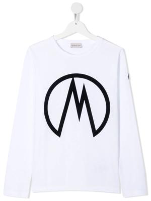 Moncler maglia a manica lunga t-shirt F29548D70620 bianco_1