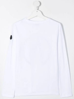 Moncler maglia a manica lunga t-shirt F29548D70620 bianco_2