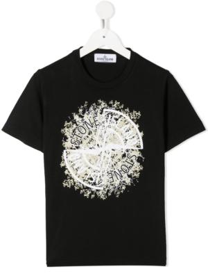 Stone Island T-shirt con stampa 731621057 nero_1