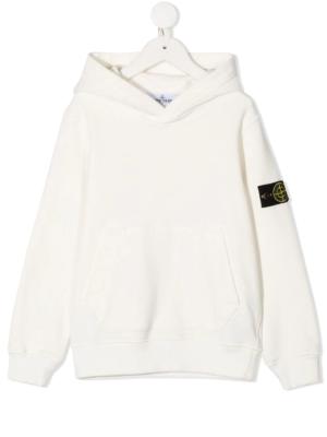 Stone Island felpa con cappuccio sweater hooded 731661640 patch applicazione_bianco_1