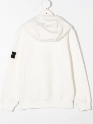 Stone Island felpa con cappuccio sweater hooded 731661640 patch applicazione_bianco_2