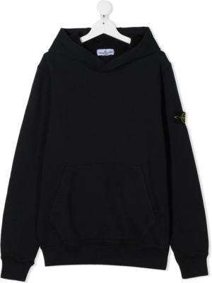 Stone Island felpa con cappuccio sweater hooded 731661640 patch applicazione_nero_1