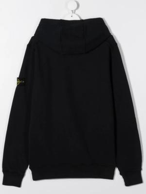 Stone Island felpa con cappuccio sweater hooded 731661640 patch applicazione_nero_2
