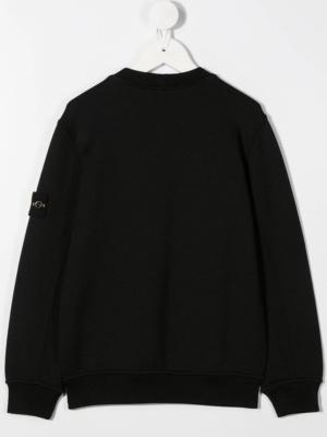 Stone Island felpa con taschino sweater 731660446 patch applicazione_nero_2