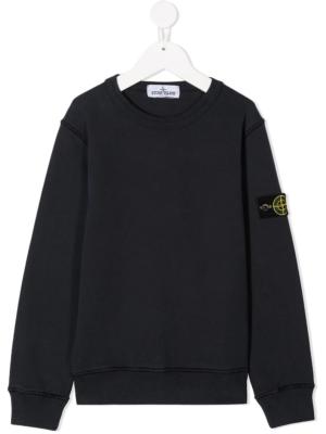 Stone Island felpa sweater 731661340 patch applicazione_blu-1