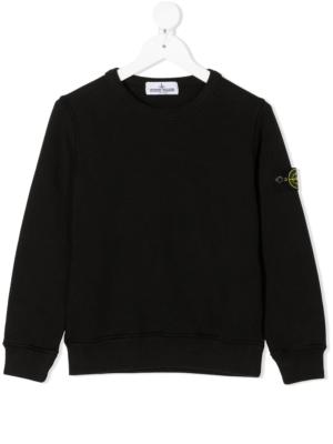 Stone Island felpa sweater 731661340 patch applicazione_nero_1