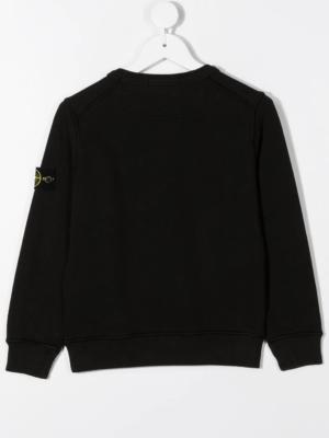 Stone Island felpa sweater 731661340 patch applicazione_nero_2