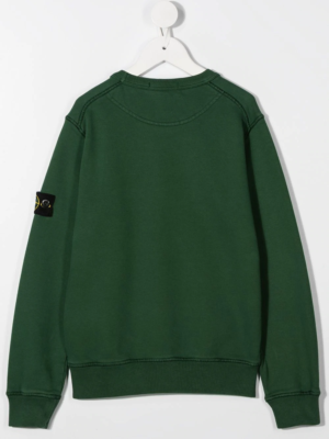 Stone Island felpa sweater 731661340 patch applicazione_verde bottiglia_2