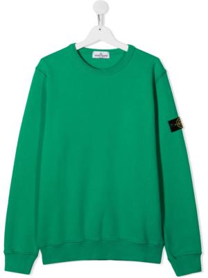 Stone Island felpa sweater 731661340 patch applicazione_verde_1