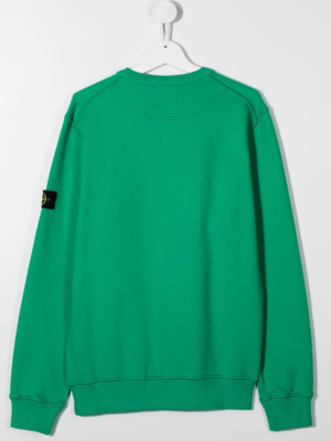 Stone Island felpa sweater 731661340 patch applicazione_verde_2