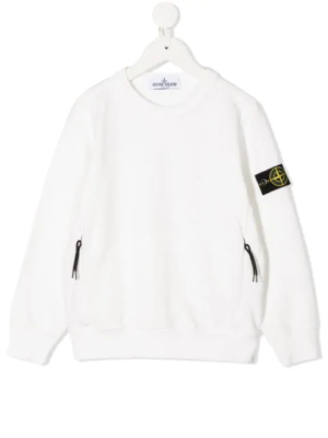 Stone Island felpa sweater zip pocket 731661340 patch applicazione_bianco_1