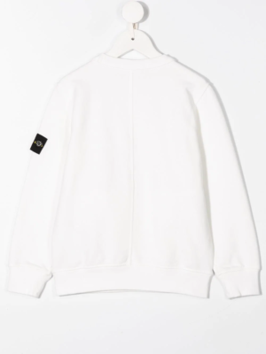 Stone Island felpa sweater zip pocket 731661340 patch applicazione_bianco_2