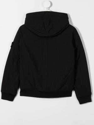 Stone Island giacca con applicazione jacket soft shell 731640531 patch applicazione_nero_2