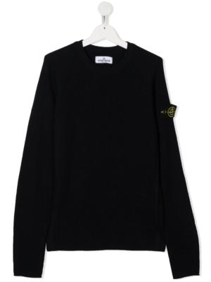 Stone Island maglione sweater 7316507A3 patch applicazione_blu_1