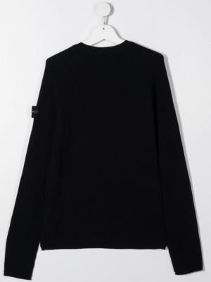 Stone Island maglione sweater 7316507A3 patch applicazione_blu_2
