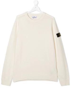 Stone Island maglione woolen sweater 7316506A1 patch applicazione_bianco_1