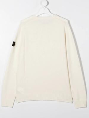 Stone Island maglione woolen sweater 7316506A1 patch applicazione_bianco_2