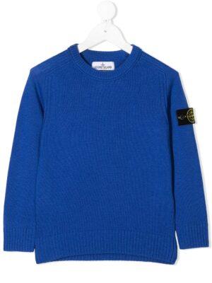 Stone Island maglione woolen sweater 7316506A1 patch applicazione_blu_1