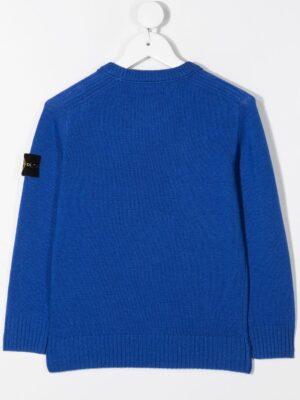 Stone Island maglione woolen sweater 7316506A1 patch applicazione_blu_2