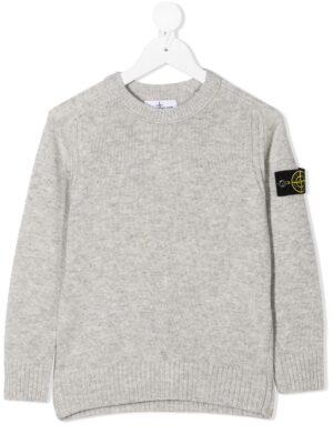 Stone Island maglione woolen sweater 7316506A1 patch applicazione_grigio_1
