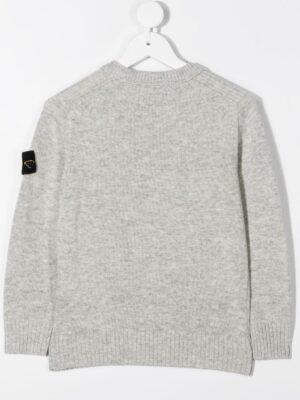 Stone Island maglione woolen sweater 7316506A1 patch applicazione_grigio_2