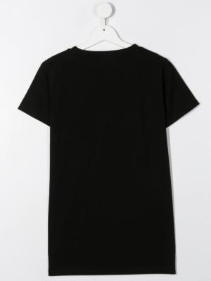 Balmain t-shirt con decorazione 6N8061 nero_2