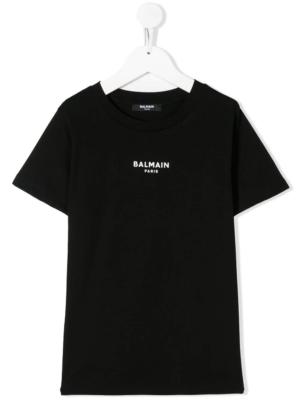 Balmain t-shirt con logo 6N8541 nero_1