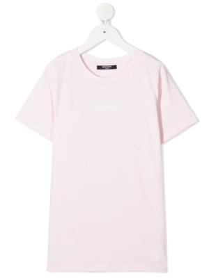 Balmain t-shirt con logo 6N8541 rosa_1