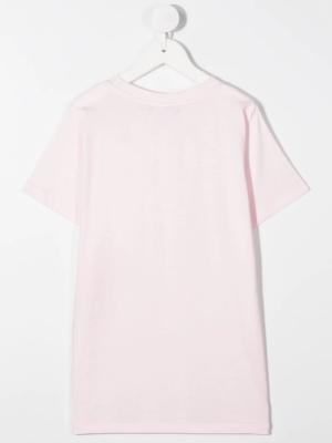 Balmain t-shirt con logo 6N8541 rosa_2