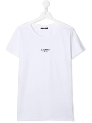 Balmain t-shirt glitter 6N8031 bianco_1