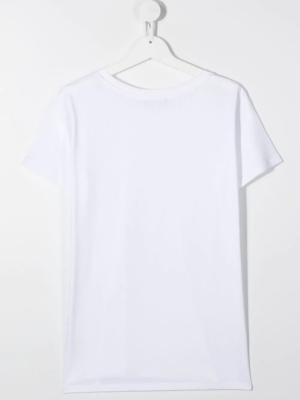 Balmain t-shirt glitter 6N8031 bianco_2