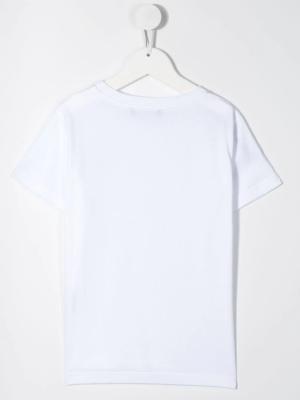 Balmain t-shirt logo laterale 6N8531 bianco_2