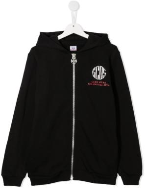 GCDS felpa con cappuccio sweater hooded 025766 nero_1