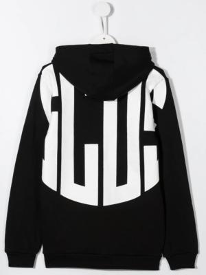 GCDS felpa con cappuccio sweater hooded 025766 nero_2
