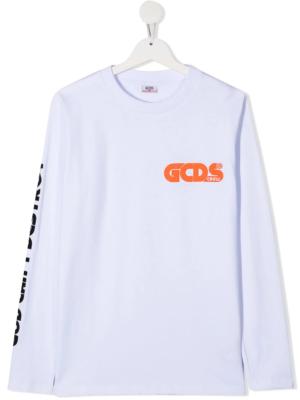 GCDS maglietta maniche lunghe 025774 bianco_1