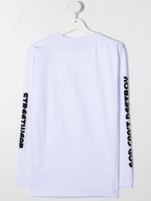 GCDS maglietta maniche lunghe 025774 bianco_2
