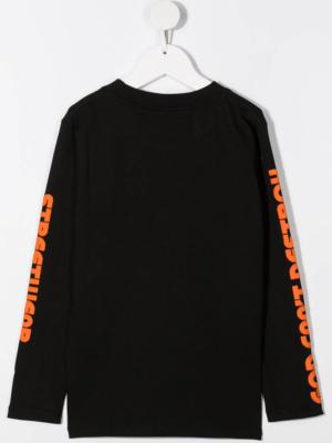 GCDS maglietta maniche lunghe 025774 nero_2