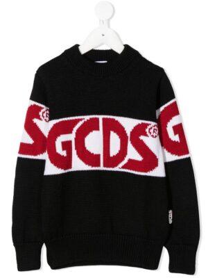 GCDS maglione woolen sweater 025756 nero_1