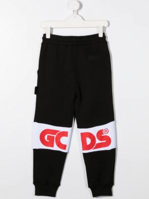 GCDS pantalone tuta sweatpants 025765 nero_2