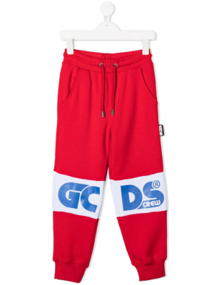 GCDS pantalone tuta sweatpants 25765 rosso_1