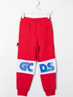 GCDS pantalone tuta sweatpants 25765 rosso_2